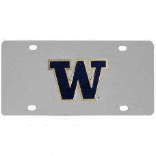 Washington Huskies Stainless Steel License Plate