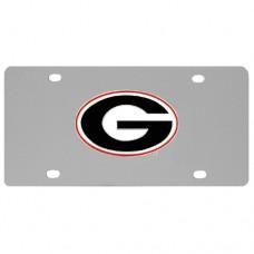Georgia Bulldogs Stainless Steel License Plate