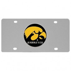 Iowa Hawkeyes Stainless Steel License Plate