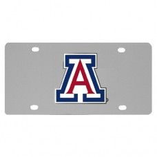 Arizona Wildcats Stainless Steel License Plate