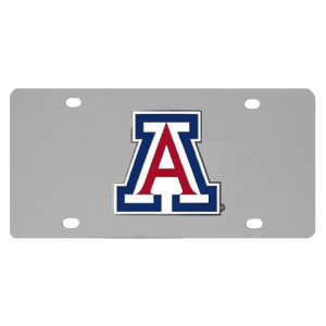 Arizona Wildcats Stainless Steel Arizona License Plates