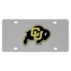 Colorado Buffaloes Stainless Steel License Plate