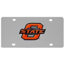 Oklahoma St. Cowboys Stainless Steel License Plate