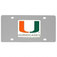 Miami Hurricanes Stainless Steel License Plate