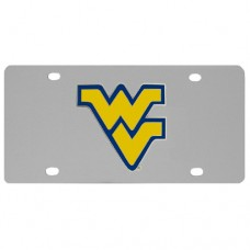 W. Virginia Mountaineers Stainless Steel License Plate