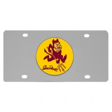 Arizona St. Sun Devils Stainless Steel License Plate