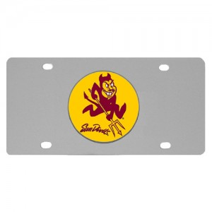 Arizona St. Sun Devils Stainless Steel Arizona License Plates