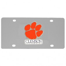 Clemson Tigers Stainless Steel License Plate