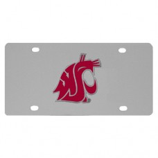 Washington St. Cougars Stainless Steel License Plate