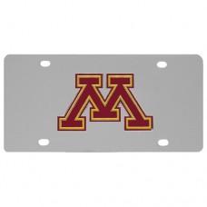 Minnesota Golden Gophers Stainless Steel License Plate