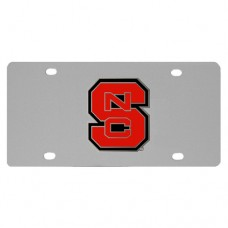 N. Carolina St. Wolfpack Stainless Steel License Plate