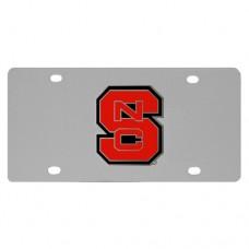 N. Carolina St. Wolfpack Stainless Steel License Plate