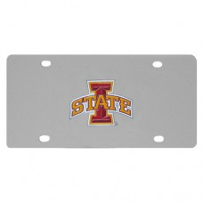 Iowa St. Cyclones Stainless Steel License Plate