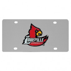 Louisville Cardinals Stainless Steel License Plate