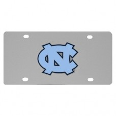 N. Carolina Tar Heels Stainless Steel License Plate