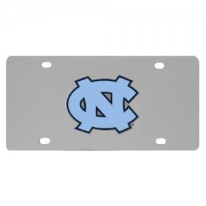 N. Carolina Tar Heels Stainless Steel NC License Plate