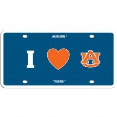 Auburn Heart License Plate
