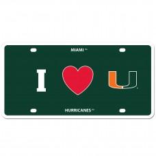 I Love Miami  License Plate
