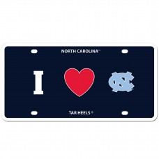 I Love N. Carolina License Plate