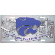 College - Kansas St. Wildcats License Plate