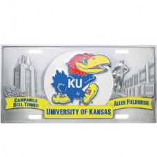 College - Kansas Jayhawks License Plate