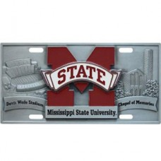 College - Mississippi St. Bulldogs License Plate