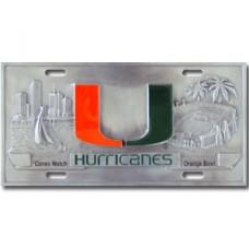 Miami Hurricanes - 3D License Plate