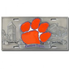 Clemson Tigers - 3D License Plate