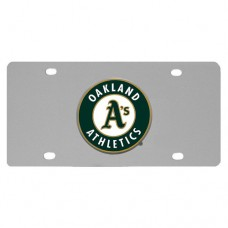 Oakland Athletics Stainless Steel License Plate