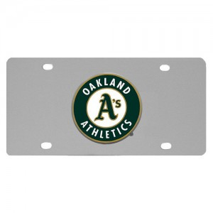 Oakland Athletics Stainless Steel California License Plate