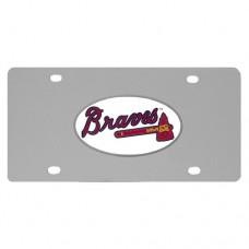 Atlanta Braves Stainless Steel License Plate