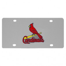 St. Louis Cardinals Stainless Steel License Plate