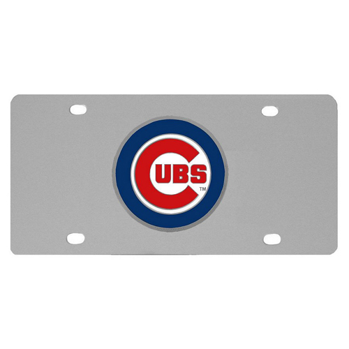 Chicago Cubs Stainless Steel Illinois License Plate