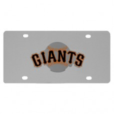 San Francisco Giants Stainless Steel License Plate
