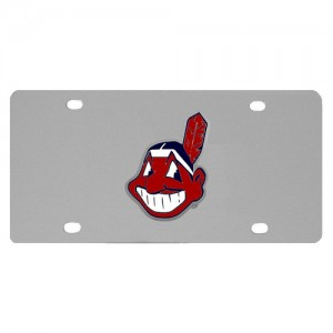 Cleveland Indians Stainless Steel Ohio License Plate