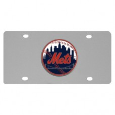 New York Mets Stainless Steel License Plate