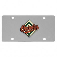 Baltimore Orioles Stainless Steel License Plate