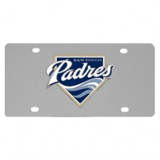 San Diego Padres Stainless Steel License Plate