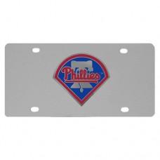 Philadelphia Phillies Stainless Steel License Plate