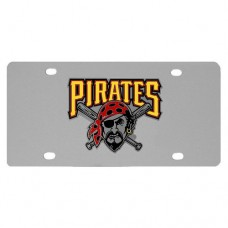 Pittsburgh Pirates Stainless Steel License Plate