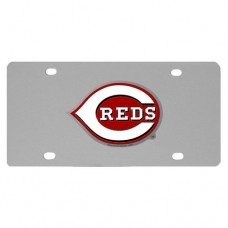 Cincinnati Reds Stainless Steel License Plate