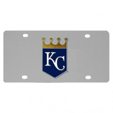 Kansas City Royals Stainless Steel License Plate