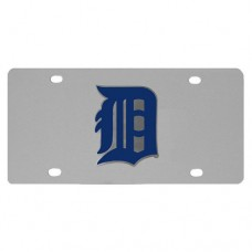 Detroit Tigers Stainless Steel License Plate