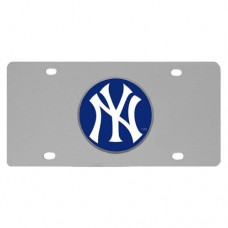 New York Yankees Stainless Steel License Plate