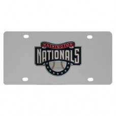 Washington Nationals Stainless Steel License Plate