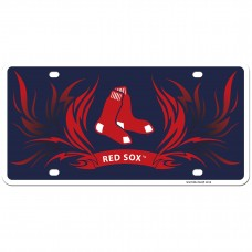 Red Sox Flame License Plate