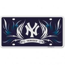 Yankees Flame License Plate