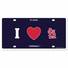 I Love St. Louis Cardinals License Plate