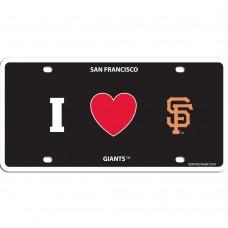 I Love Giants Styrene License Plate