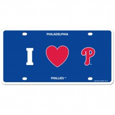 I Love Phillies License Plate